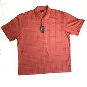 Van Heusen XXL Red Denim Printed Windowpane Shirt
